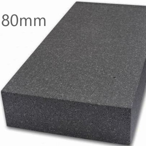 80mm Grey Polystyrene (Graphite EPS) for External Wall Insulation (pack of 7)
