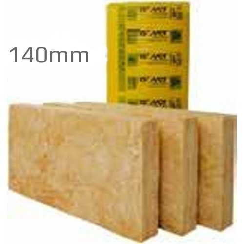 140mm isover timber frame batt 32 glass mineral wool for Mineral wool r value