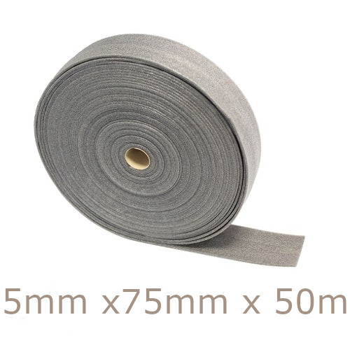 JCW Acoustic Perimeter Edging Strip Flanking Band - 5mm x 75mm x 50m.