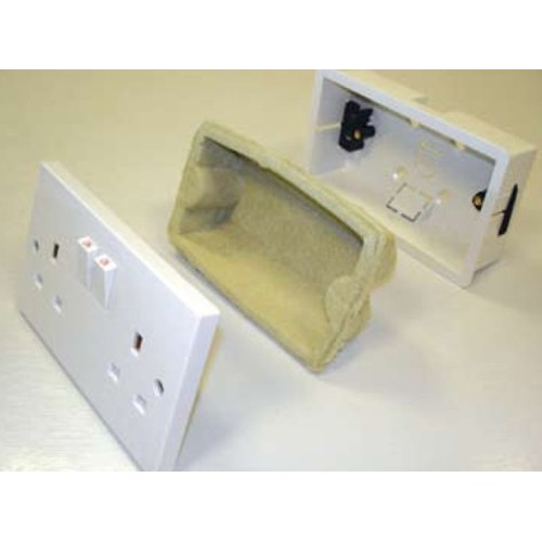 JCW Fire and Acoustic Socket Box Inserts - Single x 35mm deep