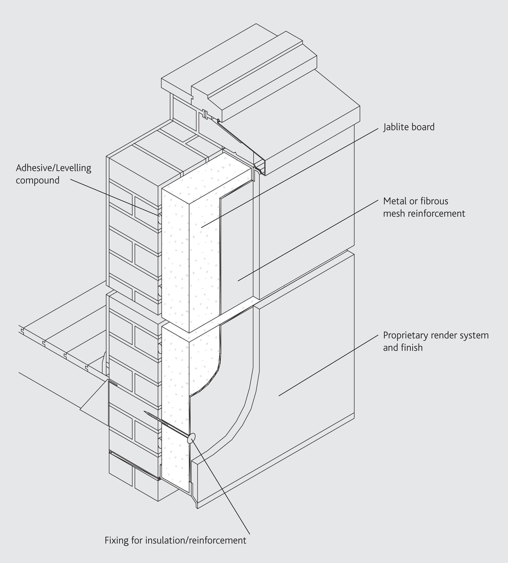 External Wall Insulation : Mm jablite external wall insulation board