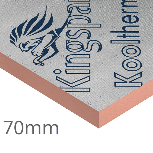 70mm Kingspan Kooltherm K15 Rainscreen Board (pack of 4)