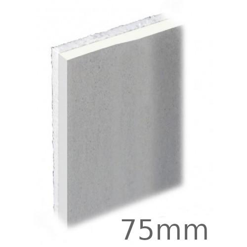 75mm Knauf PIR Thermal Laminate Insulation Board - 75mm PIR + 9.5mm Plasterboard