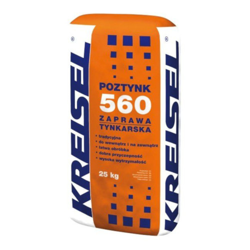 Packed Traditional Render Kreisel 560 - Cement, Sand and Lime - 25kg bag - Pallet of 48