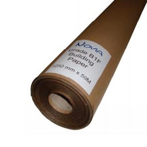 Novia BS 1521 Grade B1F Building Paper 1.25m x 50m Roll