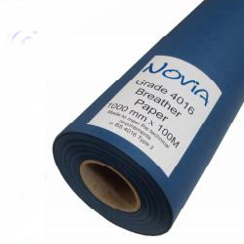 Novia BS 4016 - Type 2 Breather Paper for walls 1m x 100m Roll