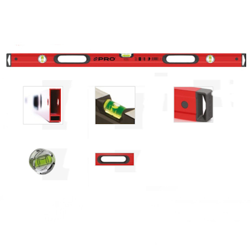 800mm Straight Edge Level with Handles PRO - Red
