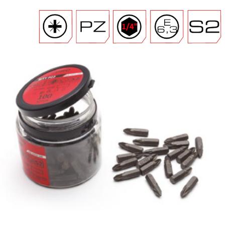 25mm PZ1 Screwdriver Bits PRO - 25nos Container