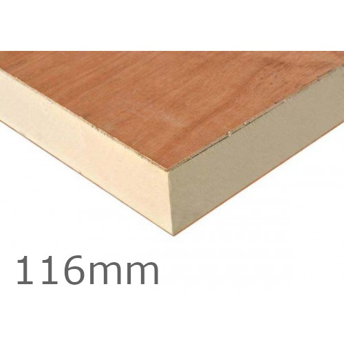 116mm Recticel Plylok Pir Flat Roof Insulation Board