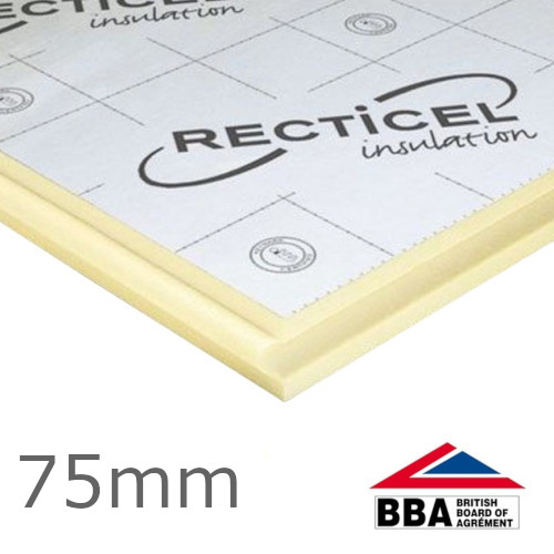 75mm Recticel Eurowall + for Full-fill Cavity Wall Insulation