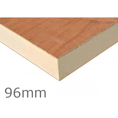 96mm Recticel Plylok PIR Flat Roof Insulation Board - 90mm PIR + 6mm Plywood Sheet