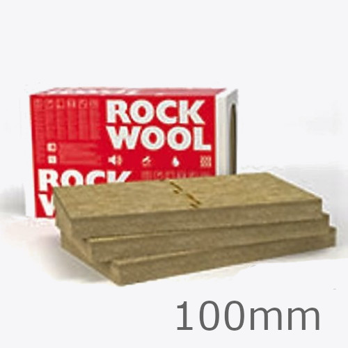 100mm Rockwool Frontrock  MAX E Dual Density External Wall Insulation Slab 1000x600mm (pack of 3)