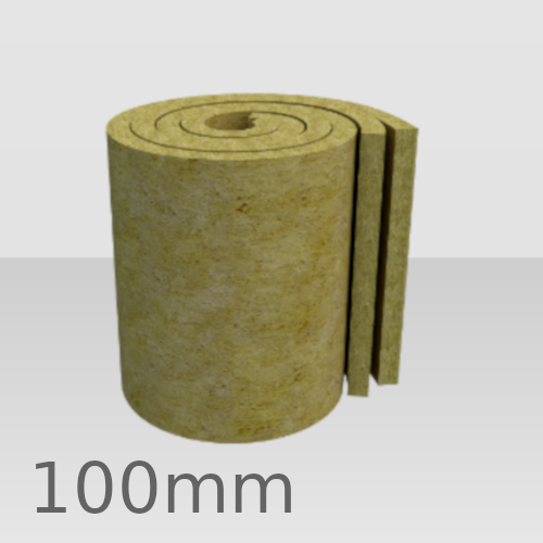 100mm Rockwool Twin Roll Loft Insulation