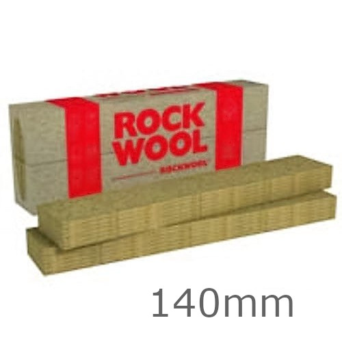 140mm Rockwool Fasrock-LL External Wall Insulation Slab 1200mm x 200mm (pack of 6)