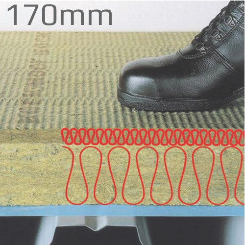 170mm Rockwool Hardrock Multi-Fix (Dual Density ) Fleece Faced Board (pallet of 7)