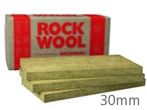 30mm Rockwool Fasrock External Wall Insulation Slab 1000mm x 600mm (pack of 6)