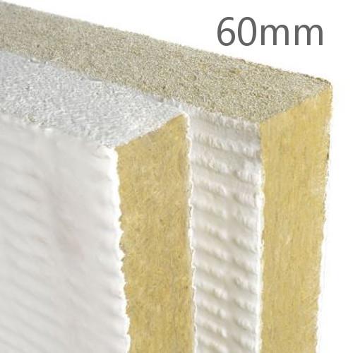 60mm Rockwool Ablative Coated Batt Rock Wool Insulation