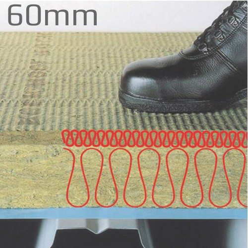 60mm Rockwool Hardrock Multi-Fix (Dual Density ) Fleece Faced Board (pallet of 20)