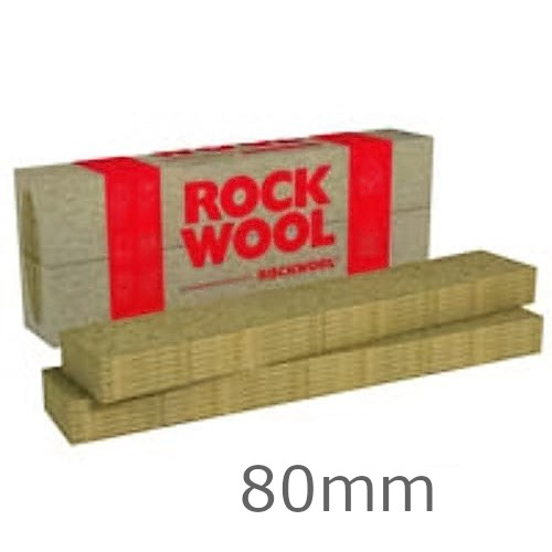 80mm Rockwool Fasrock-LL External Wall Insulation Slab 1200mm x 200mm (pack of 6)