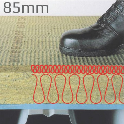 85mm Rockwool Hardrock Multi-Fix (Dual Density ) Fleece Faced Board (pallet of 15)
