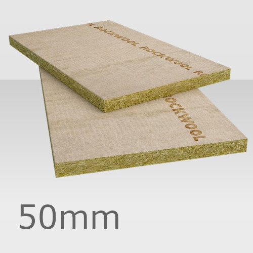 50mm Rockwool Rockfloor Insulation Slab - 1000 x 600mm
