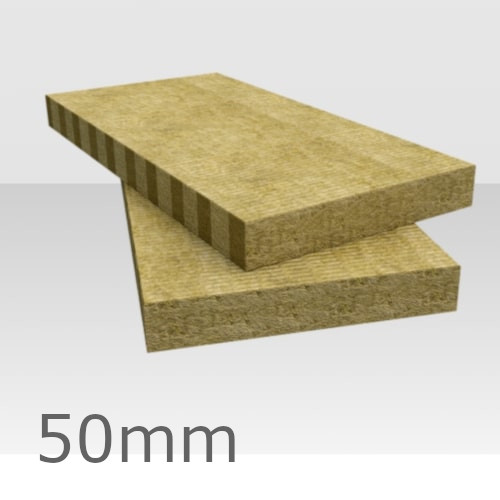 50mm Rockwool Flexi Insulation Slab - 1200mm x 600mm (pack of 12)