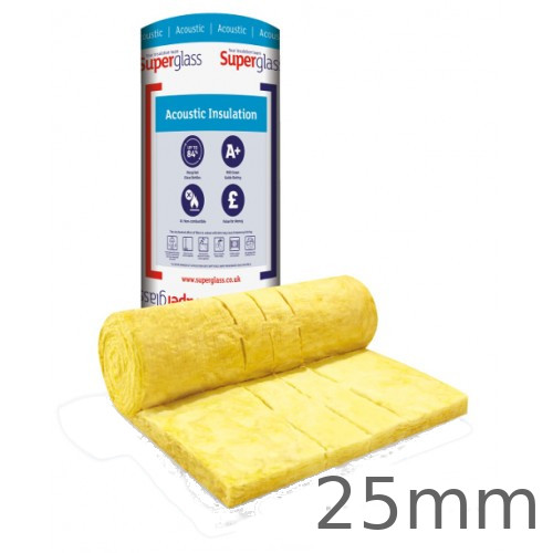 25mm Superglass Multi Acoustic Insulation Roll (Split 2 x 600mm)