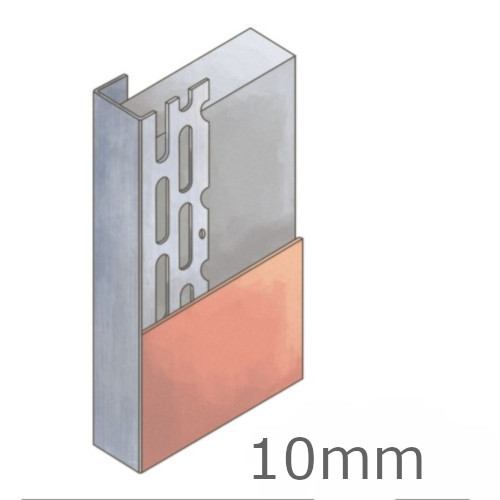 10mm Galvanised Steel Plasterboard Edge Bead - 3m