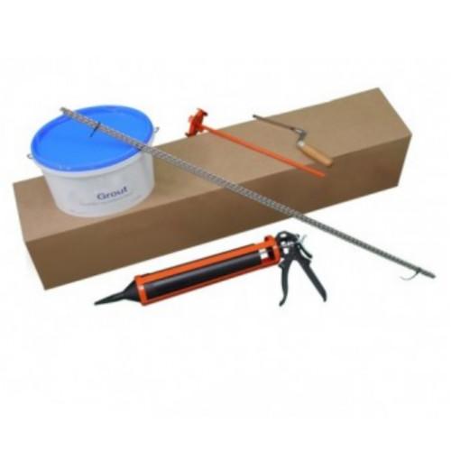Masonry Crack Stitching Kit - 6mm Stainless Steel Helical Bar - 1m length