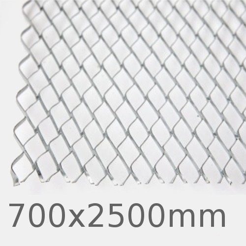 8X2 Stainless Steel Expanded Metal Lath Sheet - 700x2500mm