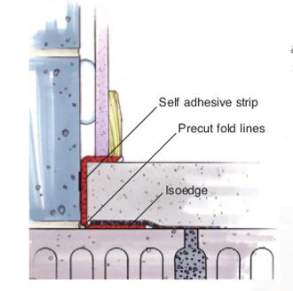 6mm Isorubber Isoedge Acoustic Perimeter Insulation Strip