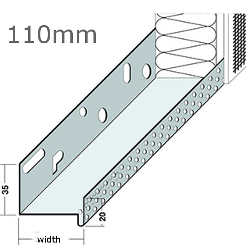 110mm Aluminium Base Track (pack of 6).