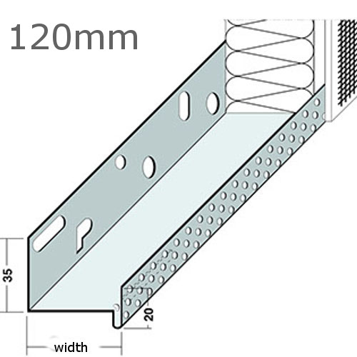 120mm Aluminium Base Track (pack of 6).
