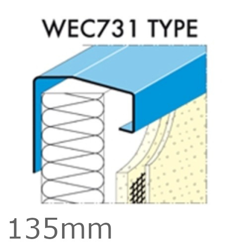 135mm Undersill Flashing and Window Sill Extensions (with full end caps-pair) - length up to 2.5m