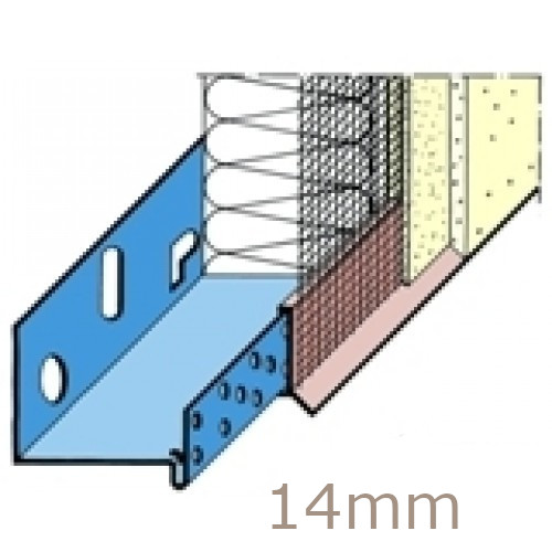 14mm PVC System Base Track Clip/Drip with Mesh (pack of 15)