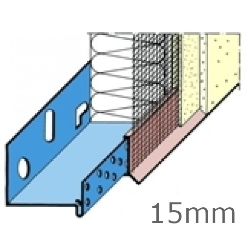 15mm PVC System Base Track Clip/Drip with Mesh (pack of 15)