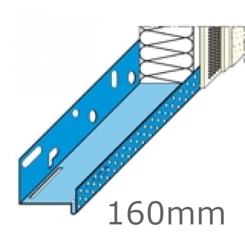 160mm Stainless Steel Base Track (pack of 6).