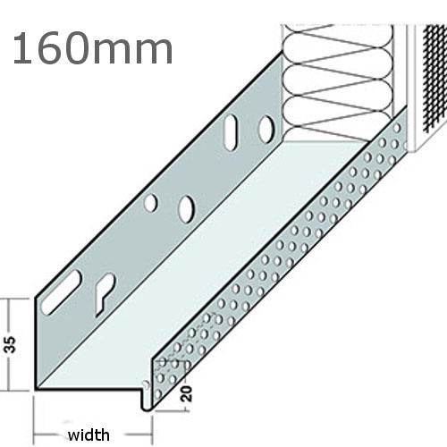 160mm Aluminium Base Track (pack of 6).