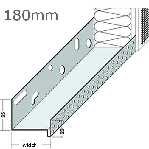 180mm Aluminium Base Track (pack of 6).
