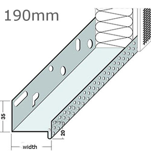 190mm Aluminium Base Track (pack of 6).