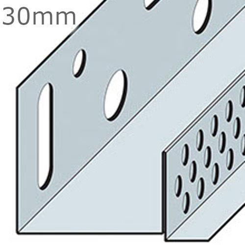 30mm Aluminium Brickslip Base Profile - 2.5m length (pack of 10)