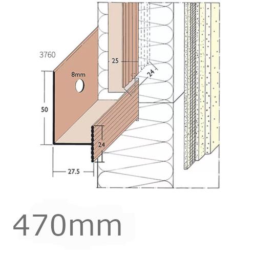 470mm Aluminium Rail System Connector (pack of 100).