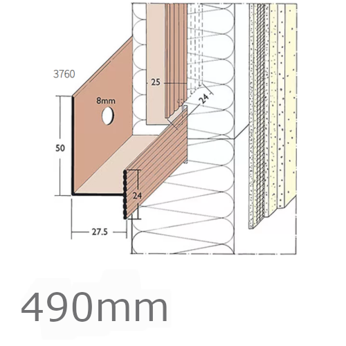 490m PVC Rail System Connector (pack of 25).