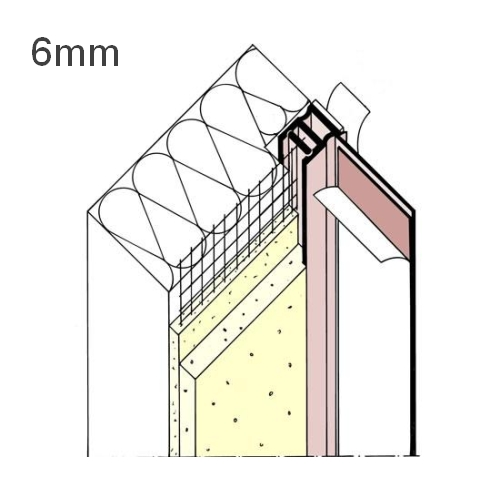 6mm Mesh Wing PVC Window Frameseal Beads (pack of 30).