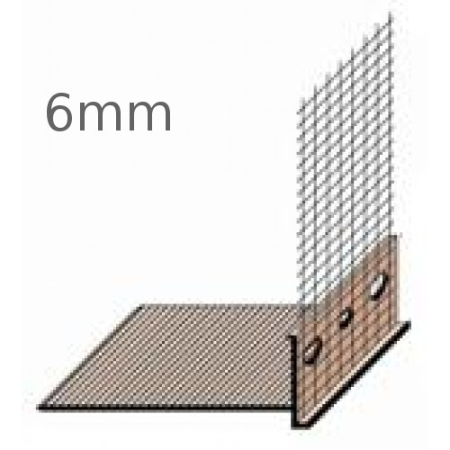 6mm PVC Base Profile - length 2m (pack of 15)