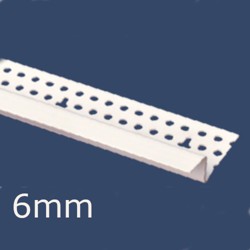 6mm PVC Shadow Gap Profile (pack of 10).