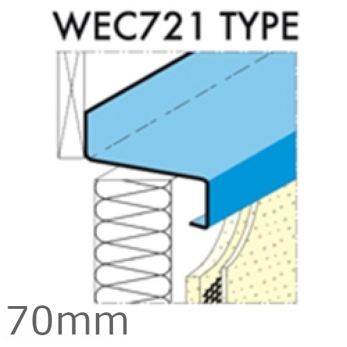 70mm Eaves Flashing, O'sill and Window Sill Extensions (with full end caps-pair) - 2.5m Length.