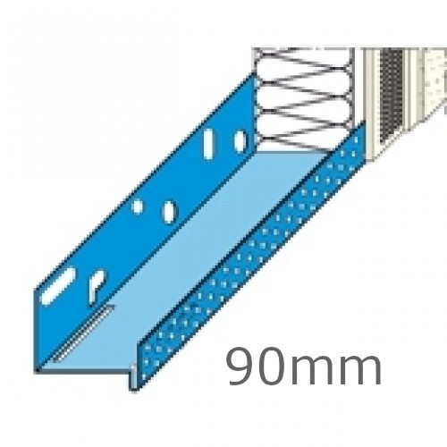 90mm Stainless Steel Base Track (pack of 10).