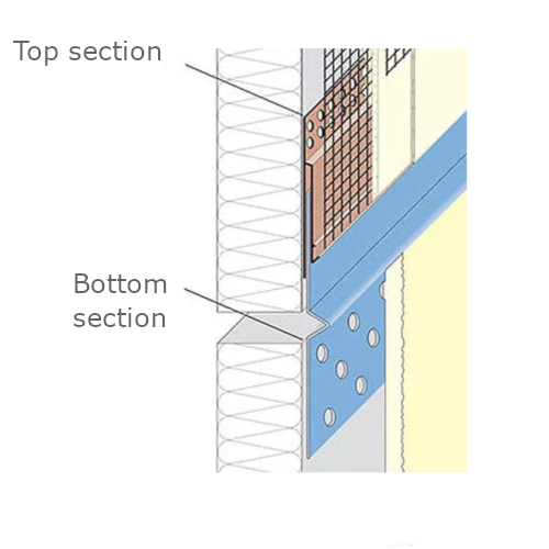 PVC Top Section with Mesh Wing of the Render Only Compression Joint (pack of 10).