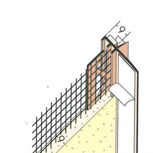 9mm Mesh Wing PVC Window Frameseal Beads (pack of 50). Profile 37909